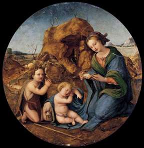 Madonna and Sleeping Christ Child with the Infant St John the Baptist