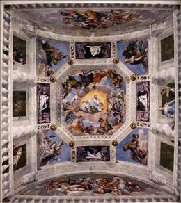 Ceiling of the Sala dell'Olimpo