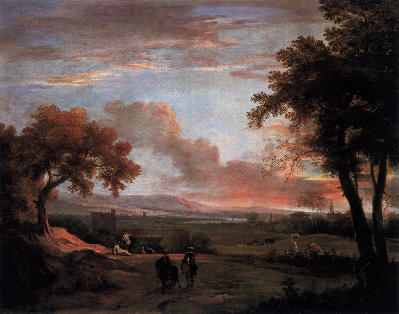 Southern Landscape at Twilight