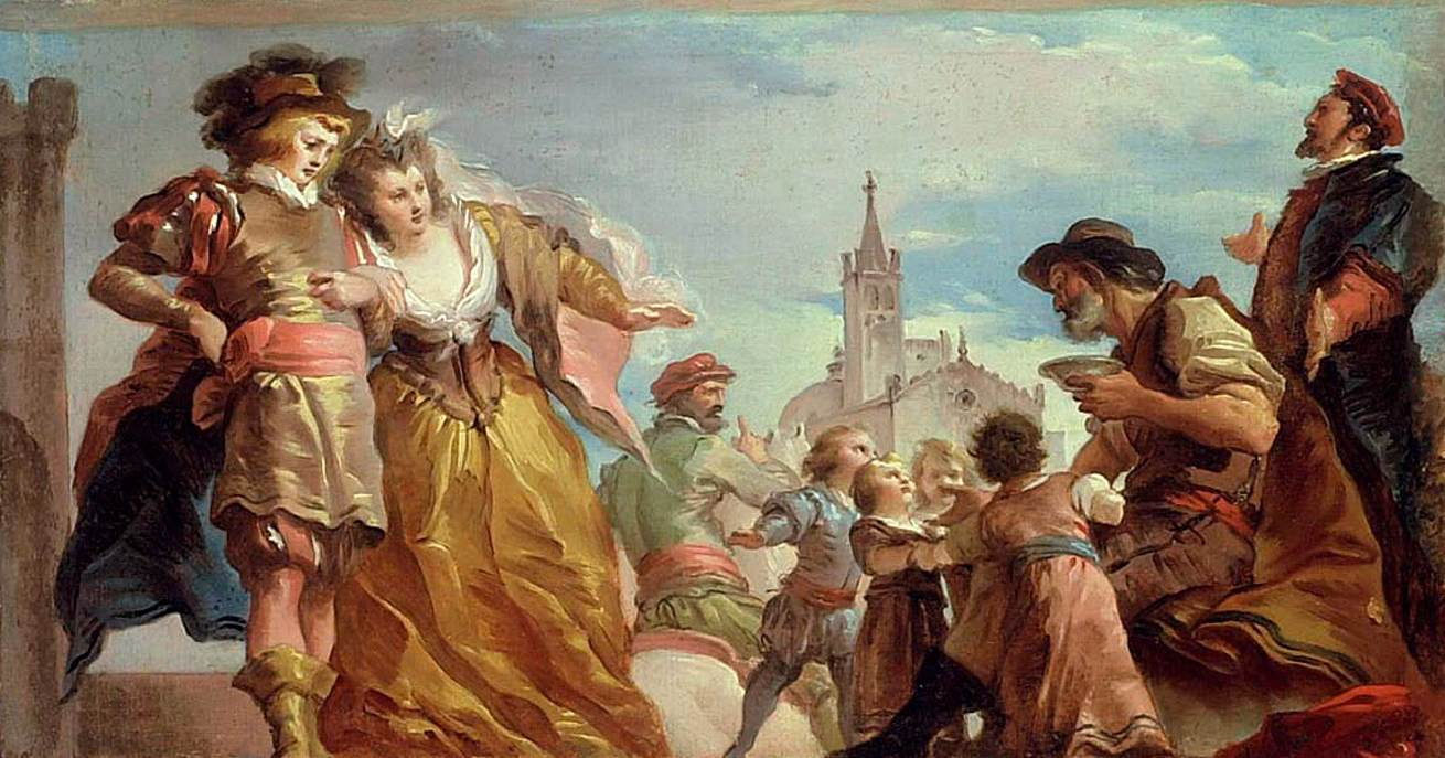 The Meeting of Gautier, Count of Antwerp, and his Daughter, Violante