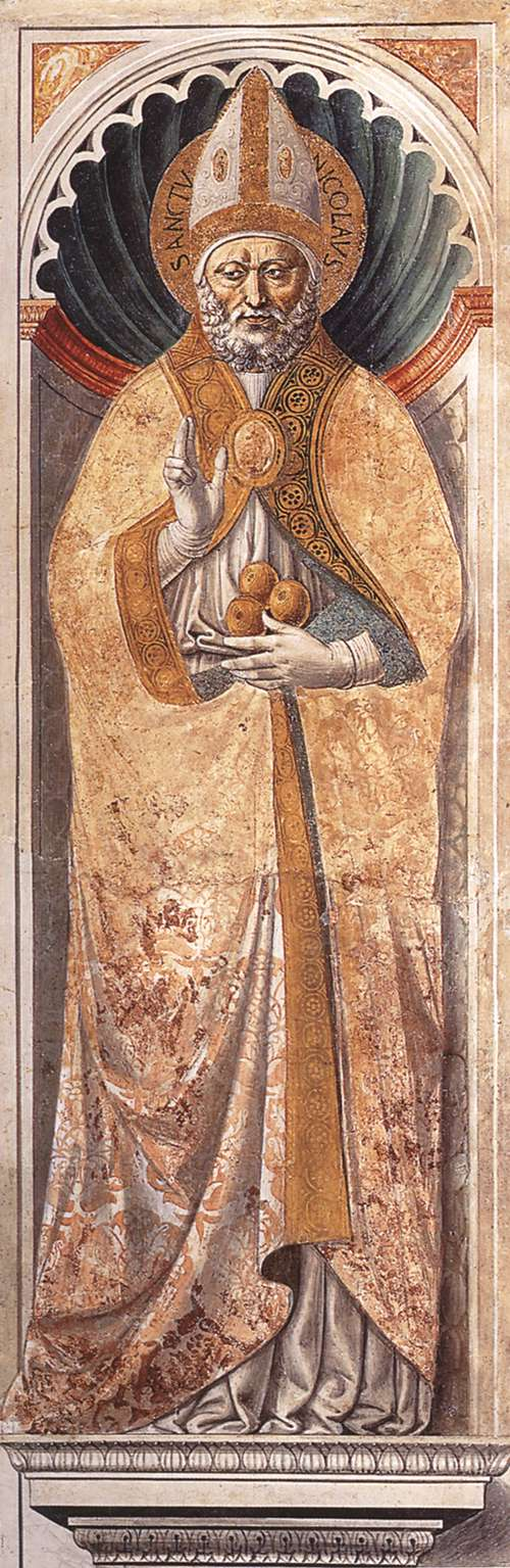 St Nicholas of Bari (on the pillar)