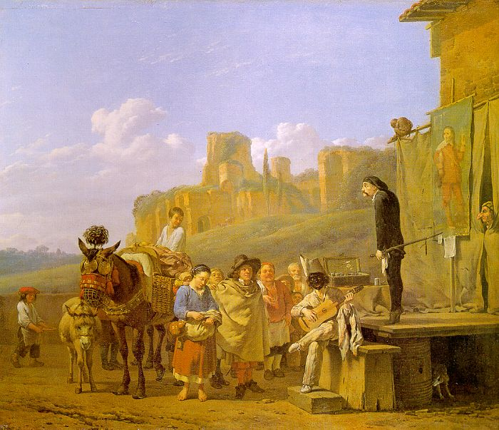 A Party of Charlatans in an Italian Landscape