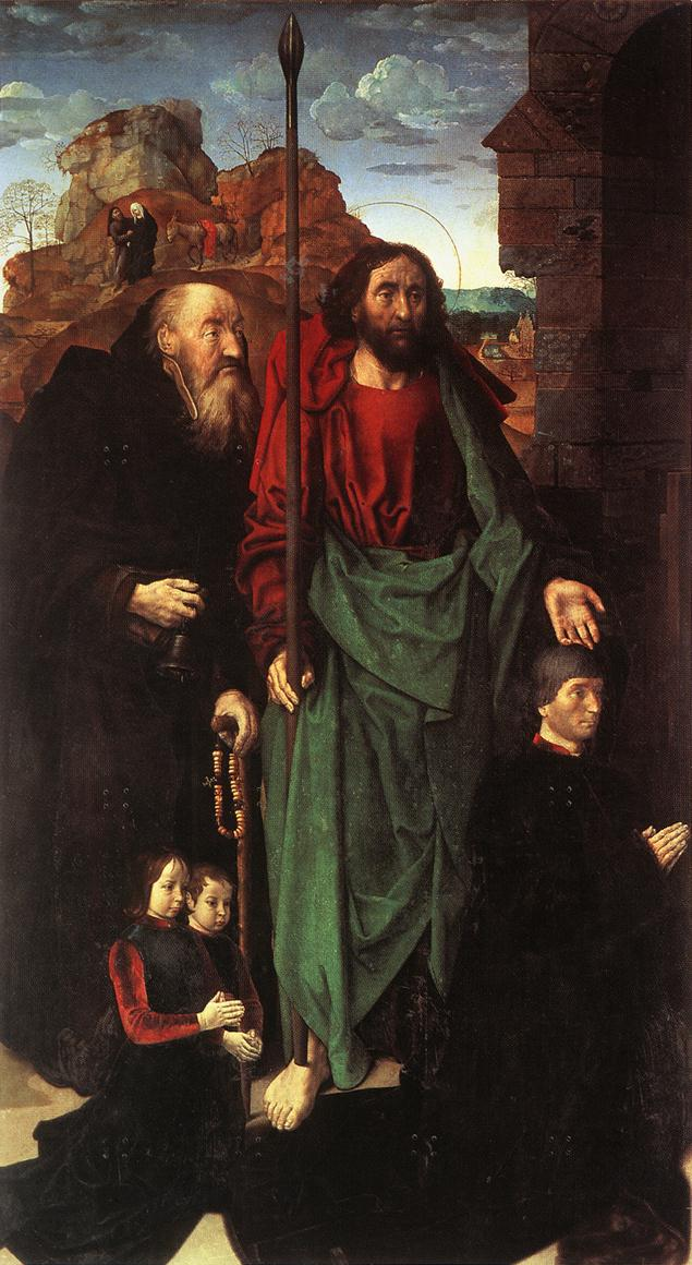 Sts. Anthony and Thomas with Tommaso Portinari