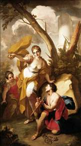 Theseus Discovering his Father's Sword