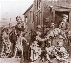 Tending Children in the Orphanage in Haarlem