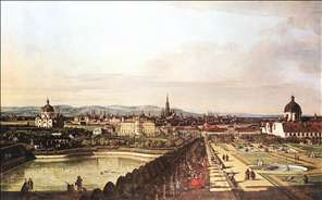 View of Vienna from the Belvedere
