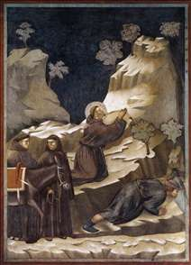 Legend of St Francis: 14. Miracle of the Spring