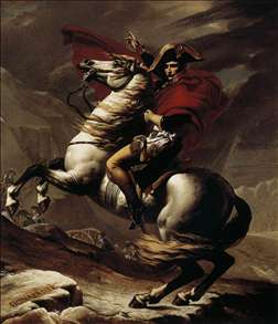 Bonaparte, Calm on a Fiery Steed, Crossing the Alps