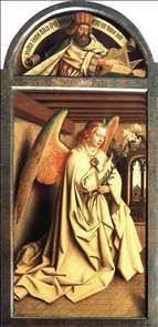 The Ghent Altarpiece: Prophet Zacharias; Angel of the Annunciation