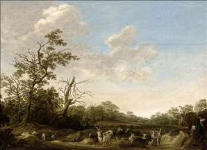 Landscape with Shepherds Playing Music