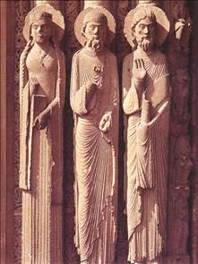 Figures on the west portal