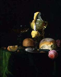 Still-Life with a Peeled Lemon in a Roemer