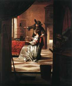 Couple with Parrot