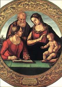 Madonna and Child with St Joseph and Another Saint