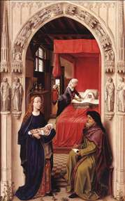 St John Altarpiece (left panel)