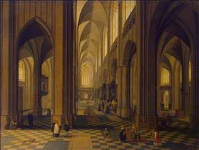 Interior of the Antwerp Cathedral