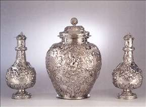 Vase and two flasks