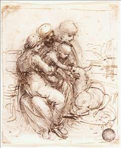 Study of St Anne, Mary, the Christ Child and the young St John