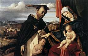 Madonna and Child with St Peter Martyr