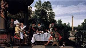Merry Company Banqueting on a Terrace