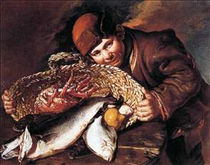 Boy with a Basket of Fish