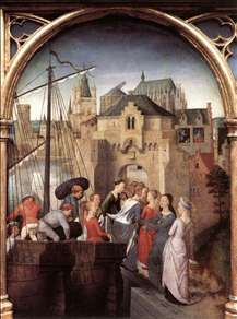 St Ursula Shrine: Arrival in Cologne (scene 1)