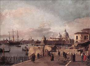 Entrance to the Grand Canal: from the West End of the Molo