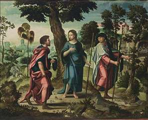 Christ and His Disciples on Their Way to Emmaus