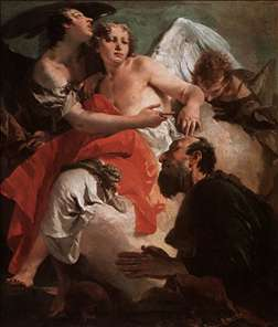 Abraham Praying before the Three Angels