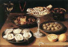 Still-Life with Oysters and Pastries