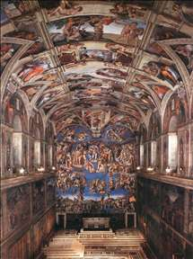 Interior of the Sistine Chapel