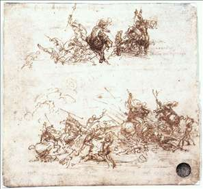 Study of battles on horseback and on foot