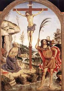 The Crucifixion with Sts Jerome and Christopher