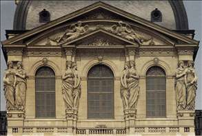 Caryatides on the Pavillon de l'Horloge