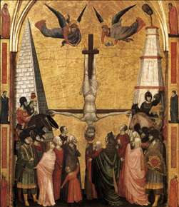 The Stefaneschi Triptych: Martyrdom of Peter