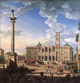 The Piazza and Church of Santa Maria Maggiore