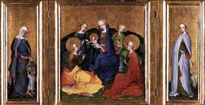 Triptych: Madonna and Child with Saints