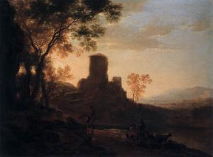 Italian Landscape with Ruined Tower