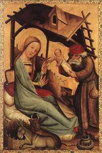 Nativity, panel from Grabow Altarpiece