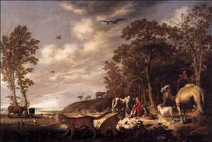 Orpheus with Animals in a Landscape