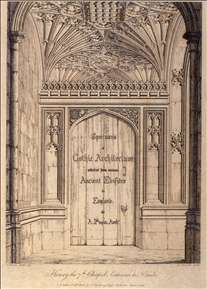 Specimens of Gothic Architecture (frontispiece)
