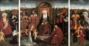 Triptych with the Family of St Anne
