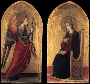 The Angel and the Virgin of Annunciation