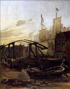 View of a Harbour in Schiedam