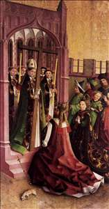 Darmstadt Altarpiece: Constantine and His Mother Helena Venerating the True Cross