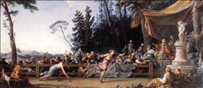 The Race between Hippomenes and Atalanta
