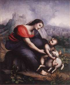 Madonna and Child with the Lamb of God