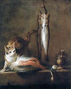 Still-Life with Cat and Fish
