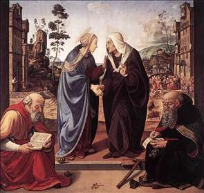 The Visitation with Sts Nicholas and Anthony