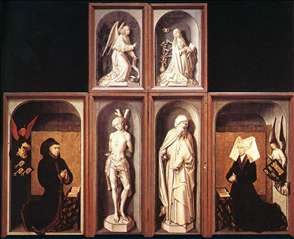 The Last Judgment Polyptych (reverse side)